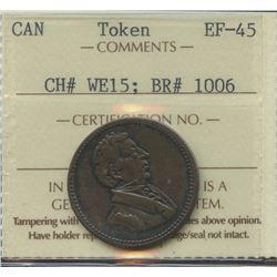 Wellington Lower Canada ½ Penny Token 1815. Br 1006