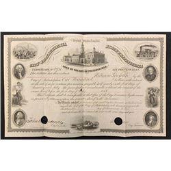 City of Philadelphia 6% Bond, 1855