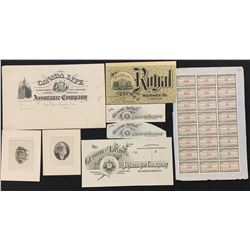 Engraved Insurance Documents, Canada Bank Note Co