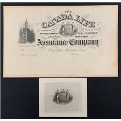 Engraved Insurance Document, Canada Bank Note Co