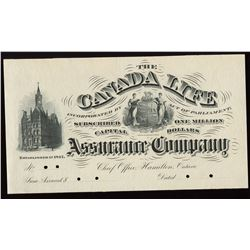 Engraved Insurance Document, Canada Bank Note Co.