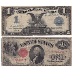 United States - 1899 $1 & 1917 $2 Lot