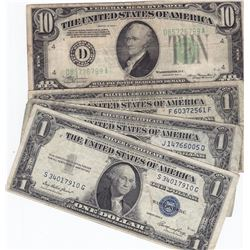 United States - 1935 $1 Silver Certificate (3) and 1934 $100 Lot
