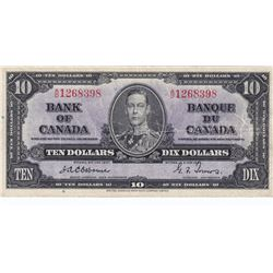 Bank of Canada $10, 1937, Rare Osborne
