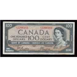 Bank of Canada $100, 1954 - Devil's Face