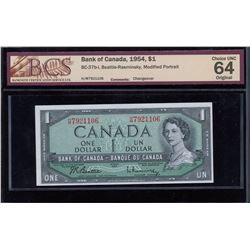 Bank of Canada $1, 1954 - Changeover