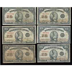 Dominion of Canada Twenty-Five Cents - Lot of 10