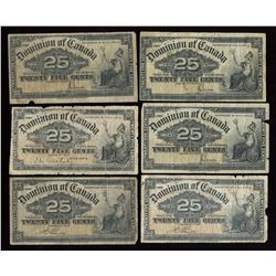 Dominion of Canada Twenty-Five Cents - Lot of 23