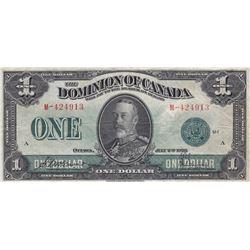 Dominion of Canada $1, 1923 Green Seal