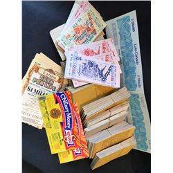 Wintario, Loto Canada & Additional Lottery Tickets Lot &  Canadian Pacific Express - Prepaid Stamps