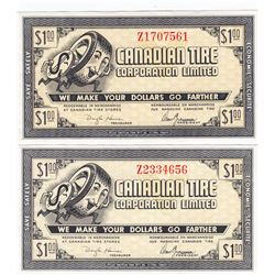 Canadian Tire Money 1962 $1, G08-E AU Large Serifs on 'Z' in Serial