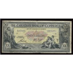1917 Canadian Bank of Commerce $20