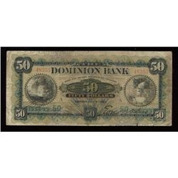 Dominion Bank $50, 1901