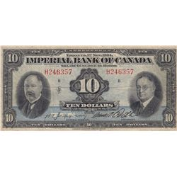Imperial Bank of Canada $10, 1934