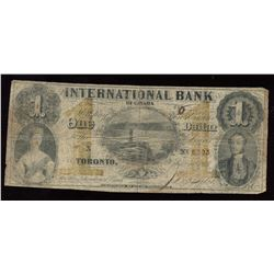 International Bank of Canada $1, 1858