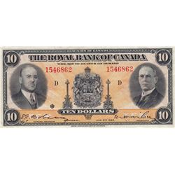 Royal Bank of Canada $10, 1935