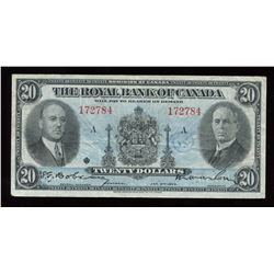 Royal Bank of Canada $20, 1935