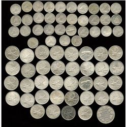 Canadian Coin Collection of Mainly Dimes & Quarters