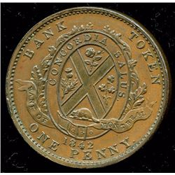 Br. 526. 1844 Bank of Montreal Penny.
