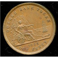 Br 528. 1852 Quebec Bank Penny,