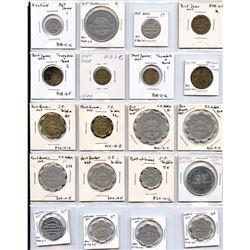 Lot of Twenty Nine Ontario Trade Tokens.