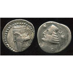 KINGS of PARTHIA. AR Drachm Group. Lot of 2