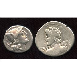 Roman Republic - AR Denarius Group. Lot of 2