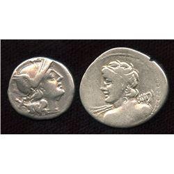 Roman Republic - AR Denarius Group. Lot of 2