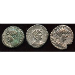Roman Provincial - Alexandrian Billon Tetradrachms. Lot of 3
