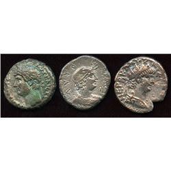 Roman Provincial - Alexandrian Billon Tetradrachms. Lot of 3