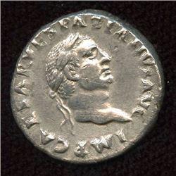 Roman Imperial - Vespasian. 69-79 AD. AR Denarius