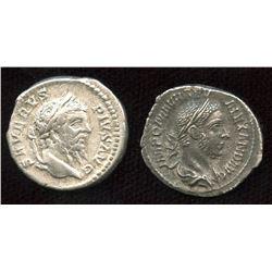 Roman Imperial - Severan Emperors (193-235 AD). AR Denarius. Lot of 2