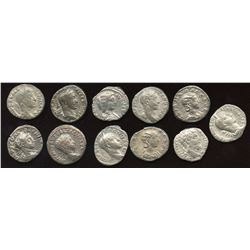 Roman Imperial - Severan Dynasty (193-235 AD). AR Denarius. Lot of 11