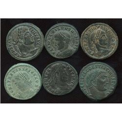 Roman Imperial - Constantinian Dynasty Group, Better Grades. Lot of 6