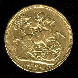 Great Britain Gold Sovereign, 1821