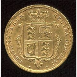 Great Britain Gold Half Sovereign, 1885