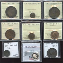 Great Britain - Lot of 9 Coins