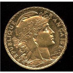 France 20 Francs Gold Coin, 1902