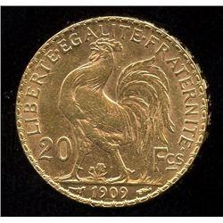 France 20 Francs Gold Coin, 1909