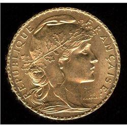 France 20 Francs Gold Coin, 1912