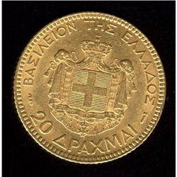 Greece 20 Drachma Gold Coin