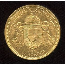 Hungary 10 Korona Gold Coin, 1904