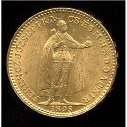 Hungary 20 Korona Gold Coin, 1895