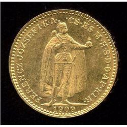 Hungary 20 Korona Gold Coin, 1909