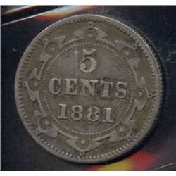 1881 Newfoundland Five Cents