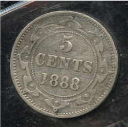 1888 Newfoundland Five Cents