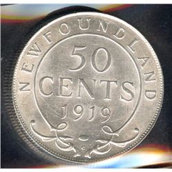 1919c Newfoundland Fifty Cents