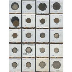 Provincial Lot of 25 Coins - Newfoundland, NB, NS