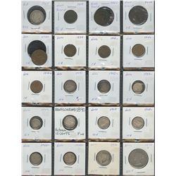 Provincial Lot of 25 Coins - Newfoundland, NB, NS