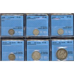 Newfoundland CCCS Graded Lot of 6 Coins